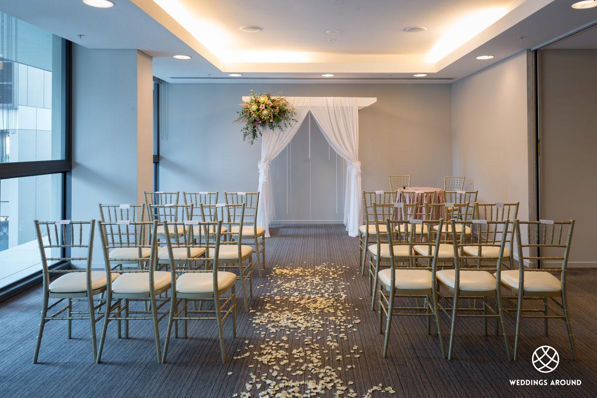 Novotel Newcastle Beach Wedding Ceremony