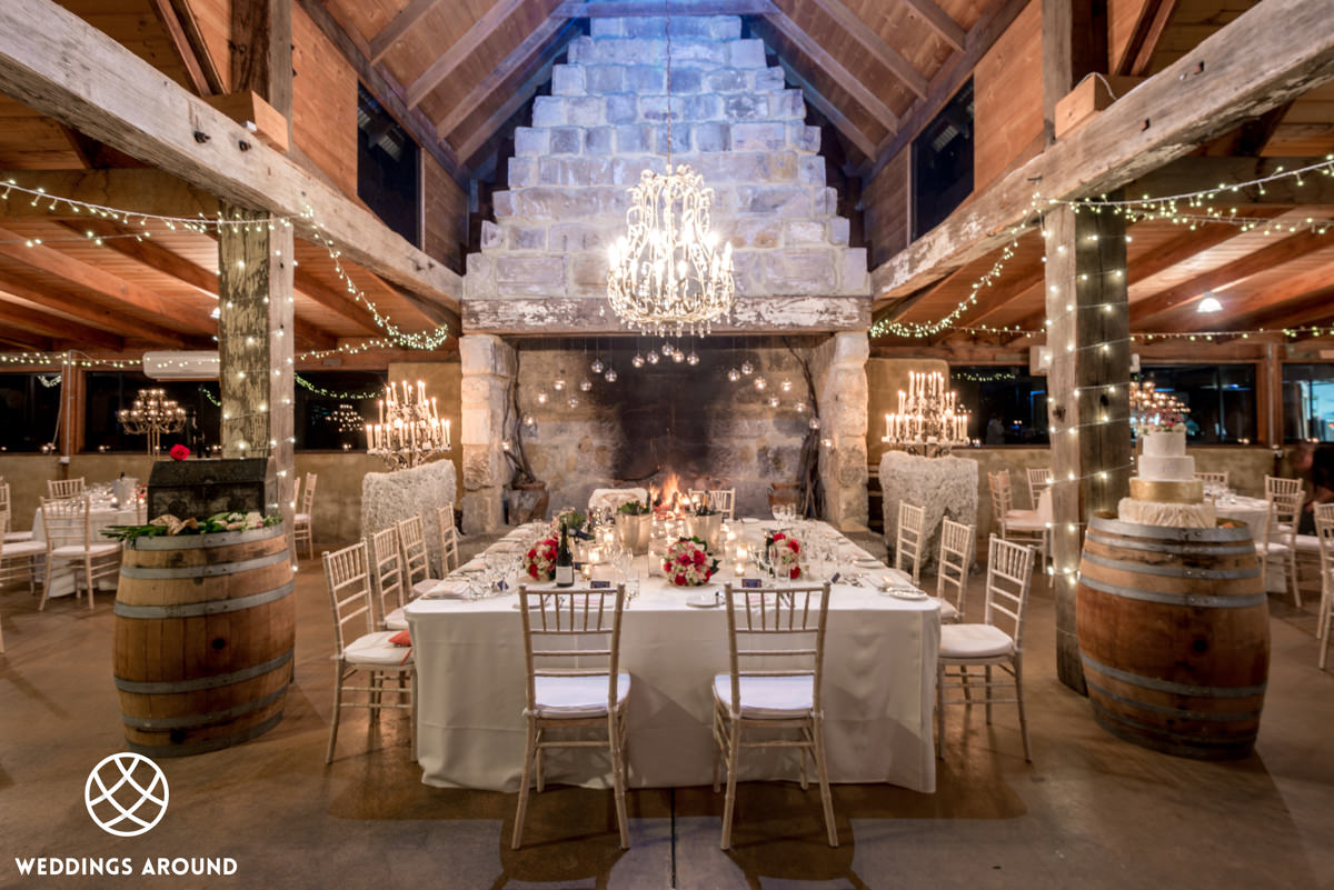 Peppers Creek Barrel Room Wedding Reception