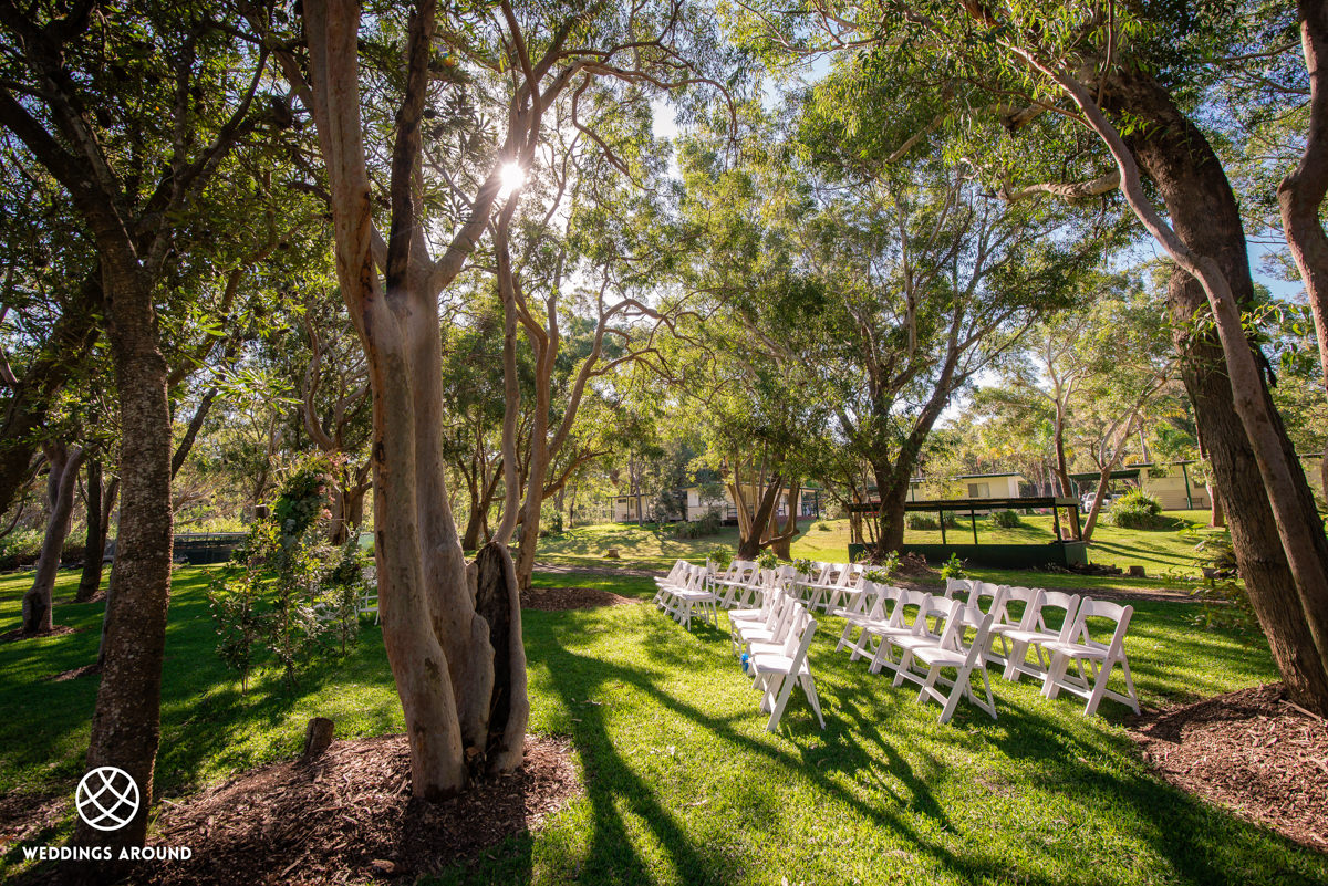 Rustic bush setting for the perfect wedding ceremony